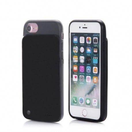 P.A Backup Power Charging Soft Case For iPhone 6, 6S & 7 - 5000mAh - Black