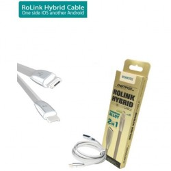 Romoss Romoss 2 in 1 Micro USB Cable For Apple & Android Devices - Silver
